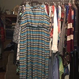 New Directions Blue, Black & Yellow Maxi, 3X